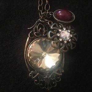 Jewelry - Bronze 3-Pendant Necklace